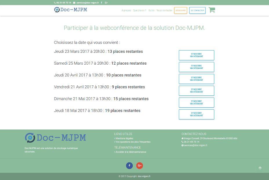 Participation à une webconférence